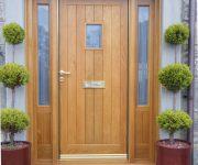 Solid wood external doors design ideas