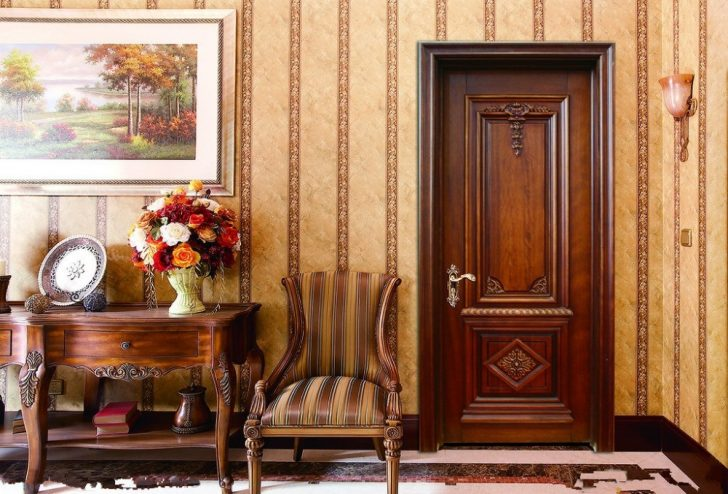 The vintage doors of elite varieties of wood