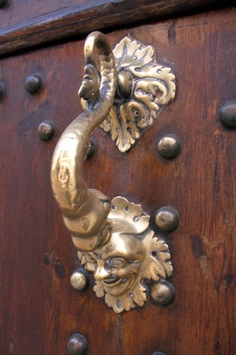 Unique vintage door handles