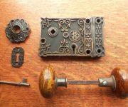 Vintage Brown mineral door knobs