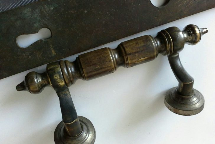 Vintage antique bronze door knobs
