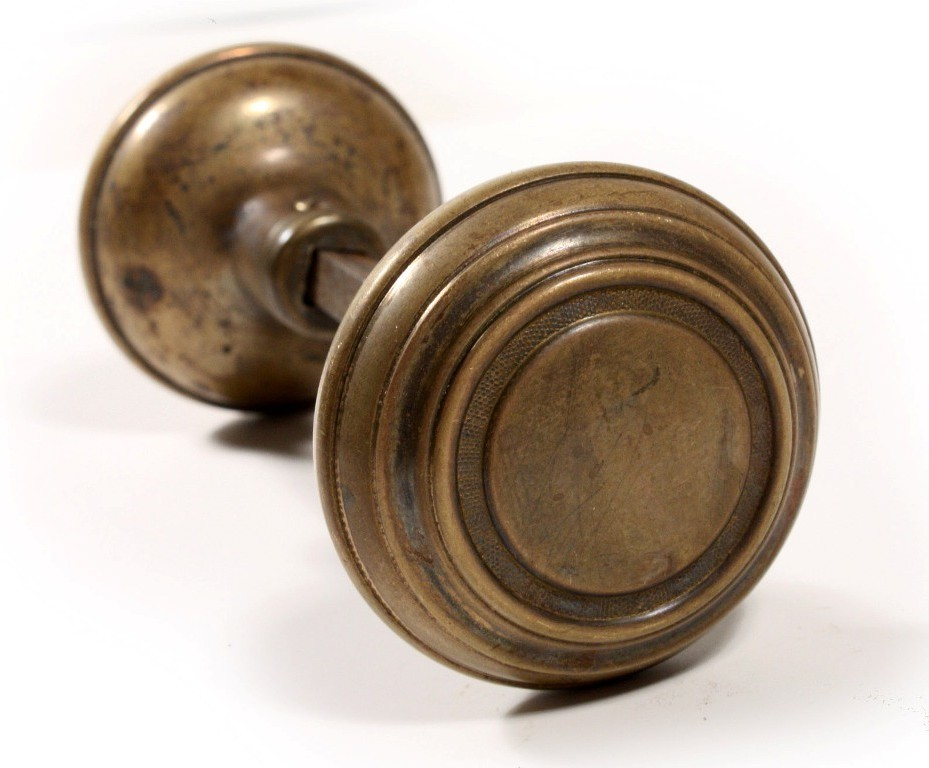 Vintage brass door knobs