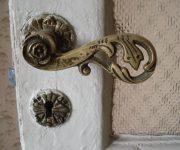 Vintage bronze door knob