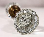 Vintage glass knobs