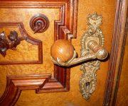Vintage wooden door knobs