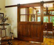 Vintage wooden sliding door