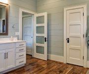 White interior doors with black handles