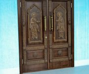 Wooden oak doors antiqued