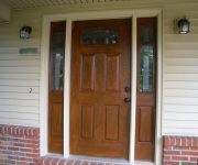 Solid wood external doors whith glass
