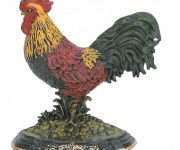 Christmas door stopper – Red yellow rooster as symbol of new year 2017 in Chinese calendar