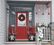 Door decoration for New year and Christmas