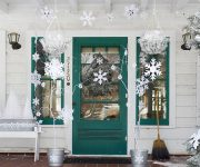 Door decoration paper snowflakes