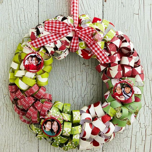 Make a new year wreath on a door with your own hands for How to make christmas door wreaths