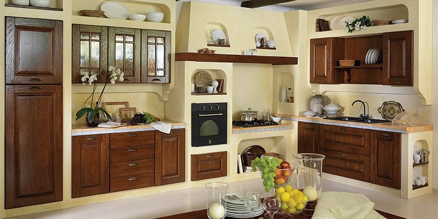 Italian style in the kitchen interior
