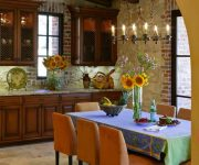 Lighting in the kitchen in the Italian style – Stylized antique chandeliers