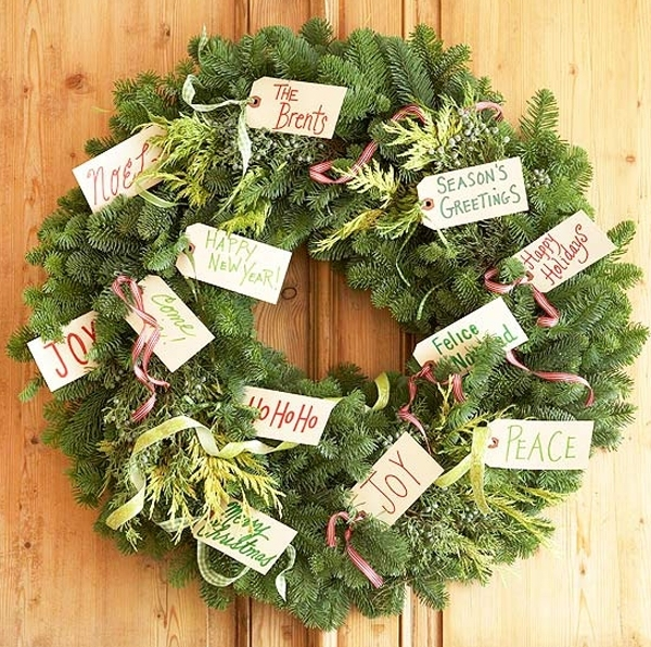 A traditional wreath of fir