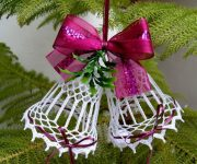 New year bells - Decoration of entrance and interior doors for the New Year and Christmas
