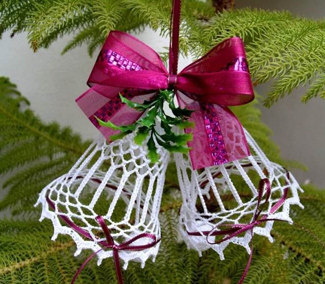 New Year bells can be crocheted