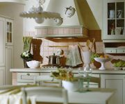 Soft lateral illumination in the kitchen Italian style, kitchen utensils