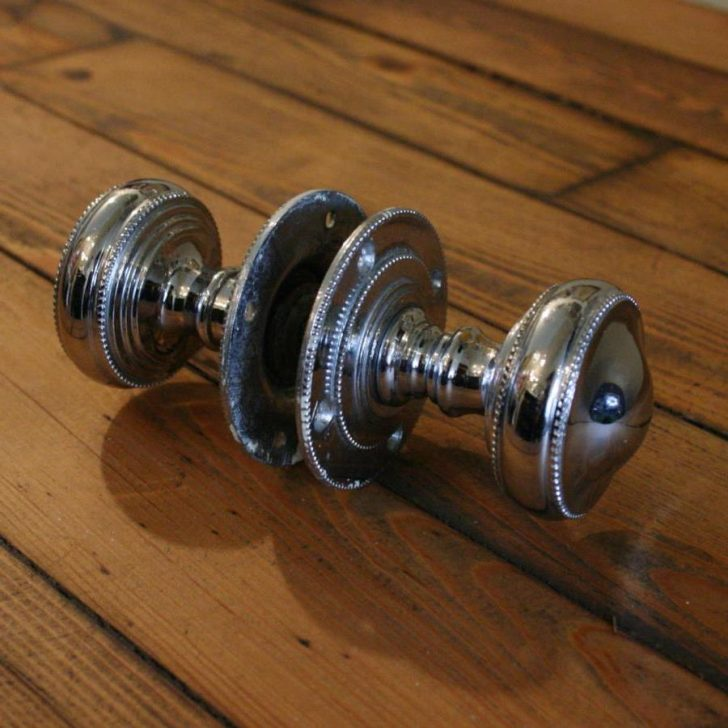 Antique chrome door knobs