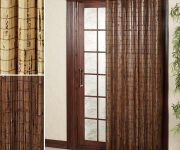 Bamboo door curtains