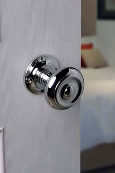 Chrome door knobs