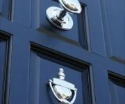 Chrome front door knobs