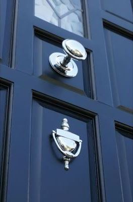 Chrome front door knobs