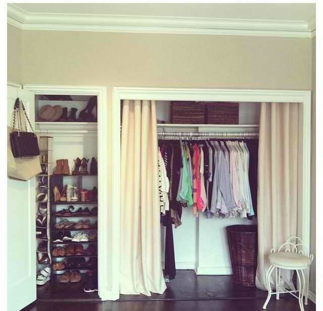 Closets with curtains