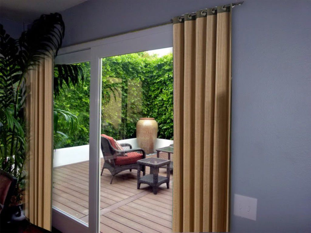 Closets with curtains for doors for Balcony door ideas