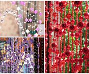 Curtains made of beads