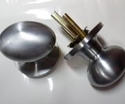 Door knob color brushed chrome