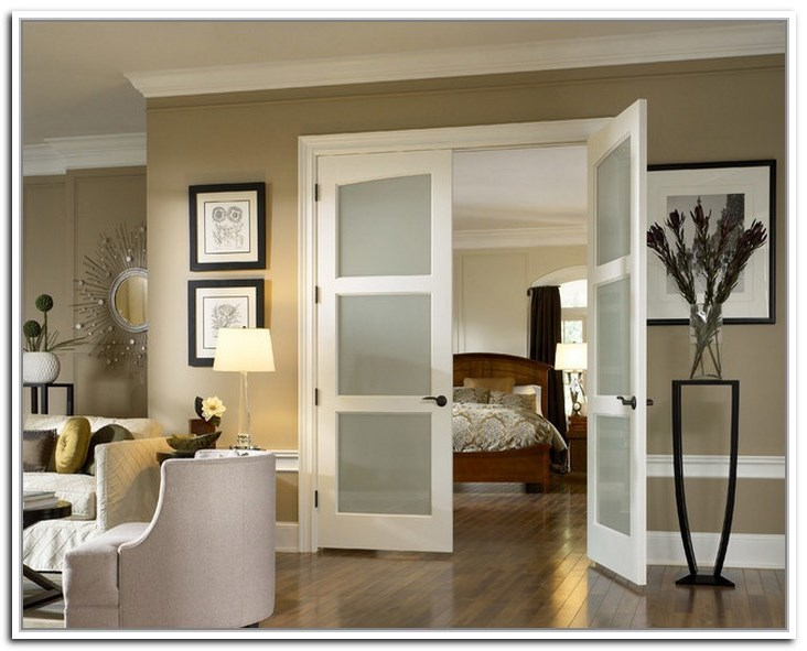 French Doors With Frosted Glass For The Bedroom