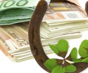 Horseshoe over the door brings prosperity and wealth