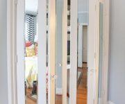 Interior bifold doors glass panel