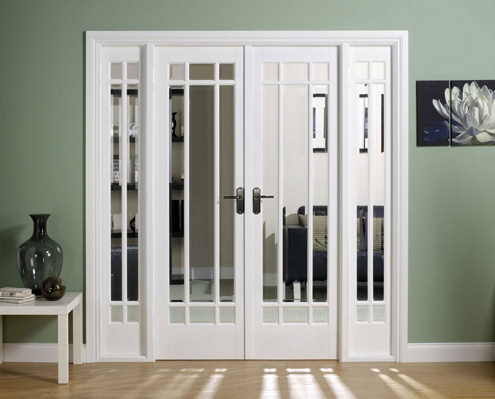 Sliding french doors with frosted glass for Interior glass french doors