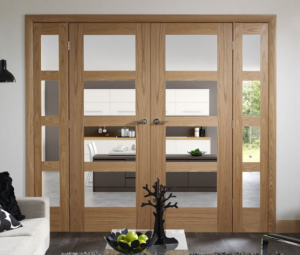 Interior oak french doors with glass for Oak french doors