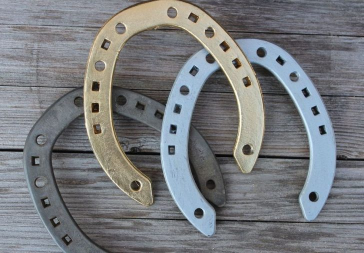 An iron horseshoe has long been considered as a talisman against evil forces