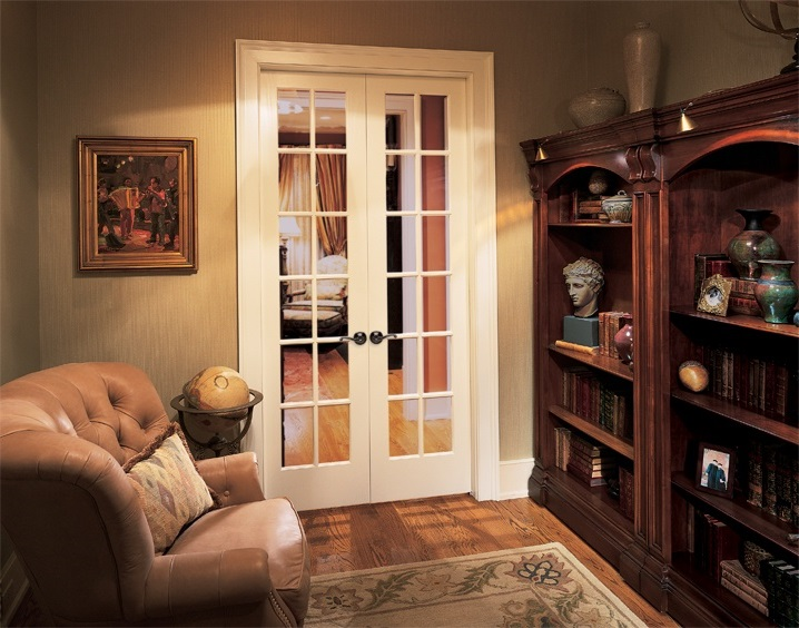 Luxary Interior French Double Doors With Glass