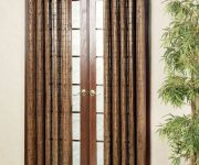 Sliding bamboo door curtains