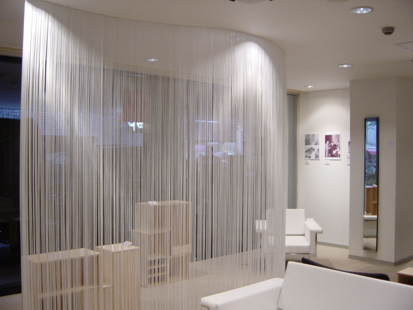 White decorative curtains
