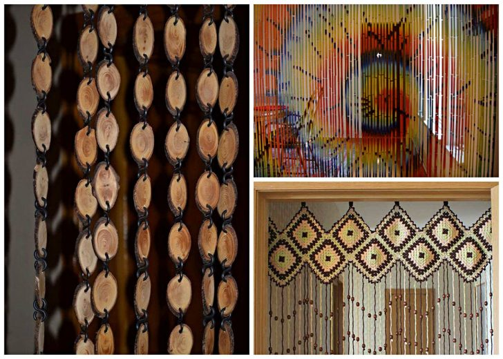 Kinds of wooden curtains for a doorway