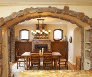 Indoor stone arch