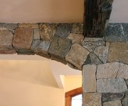 Interior stone veneer doorway design ideas