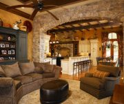Stone archway - stone arch in house - home design ideas