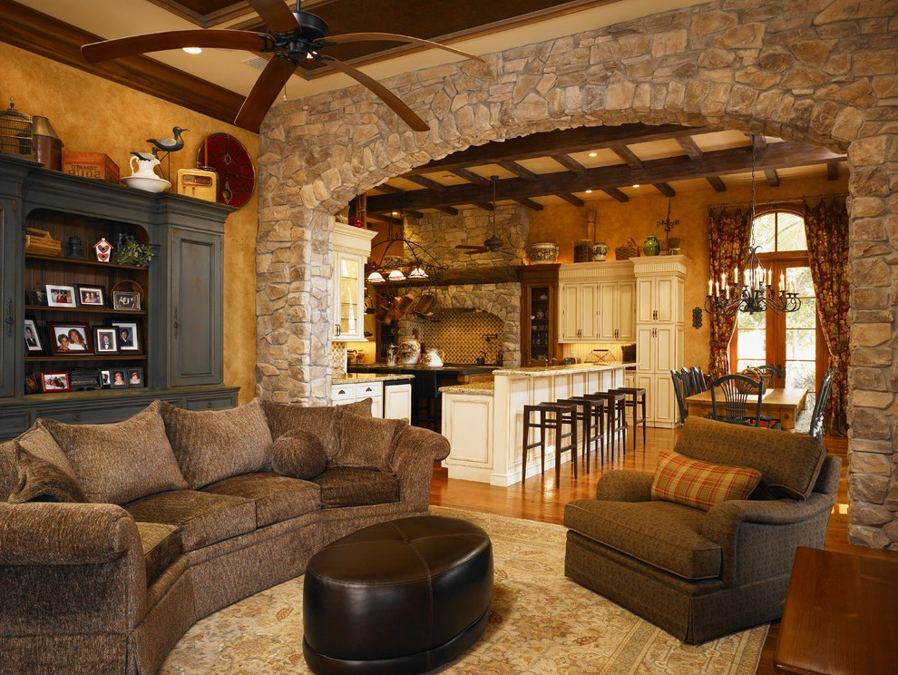 Stone archway – stone arch in house – home design ideas