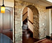 Stone archways in house
