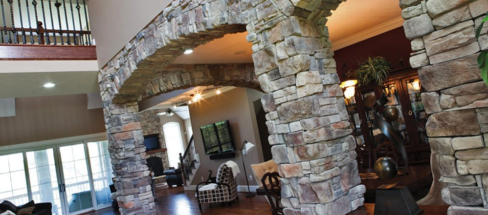 Stone archways interior