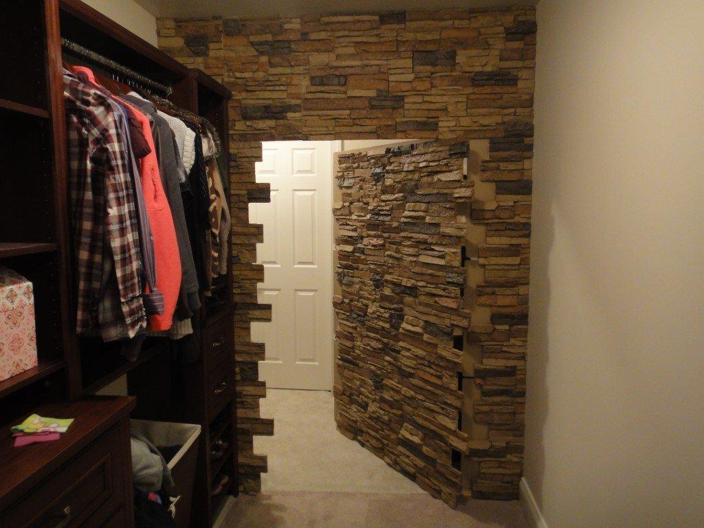 Stone veneer secret door