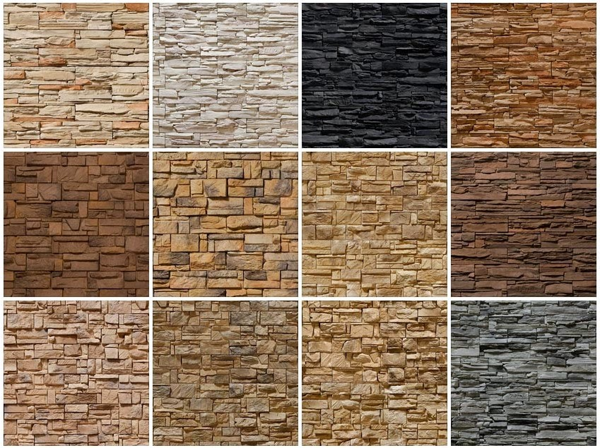 Different Types Of Decorative Stones : Natural stone veneer panels